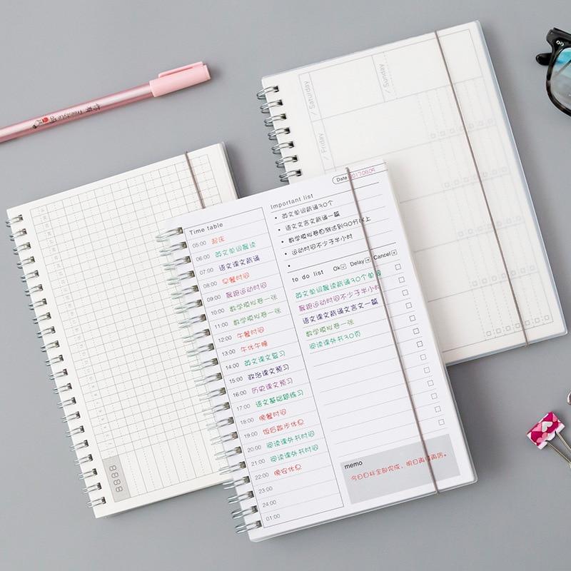 Diario semanal 2020 mensual 2021 planificador espiral A5 cuaderno tiempo Memo planificación...