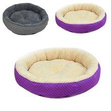 Modernas camas para perros, alfombrillas redondas suaves de 2 colores para casa de perro, cama para perro a rayas, Gato, gris/rojo-azul, tallas S M, productos para mascotas