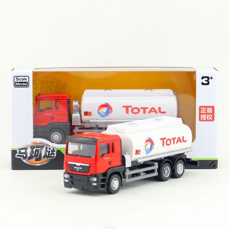 Envío gratis/RMZ City/escala 1 64/modelo de juguete fundido/camión tanque de aceite TOTAL para hombre/coche EDUCATIVO/Colección/regalo para niños