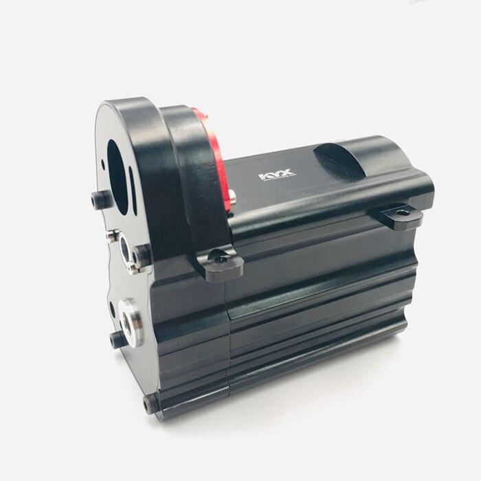 1 adet CNC Metal KYX şanzıman muhafazası dişli kutusu kabuk dalga durumda oluklu RC araba modeli için TAMIYA özel 1/14 SEMI-TRACTO