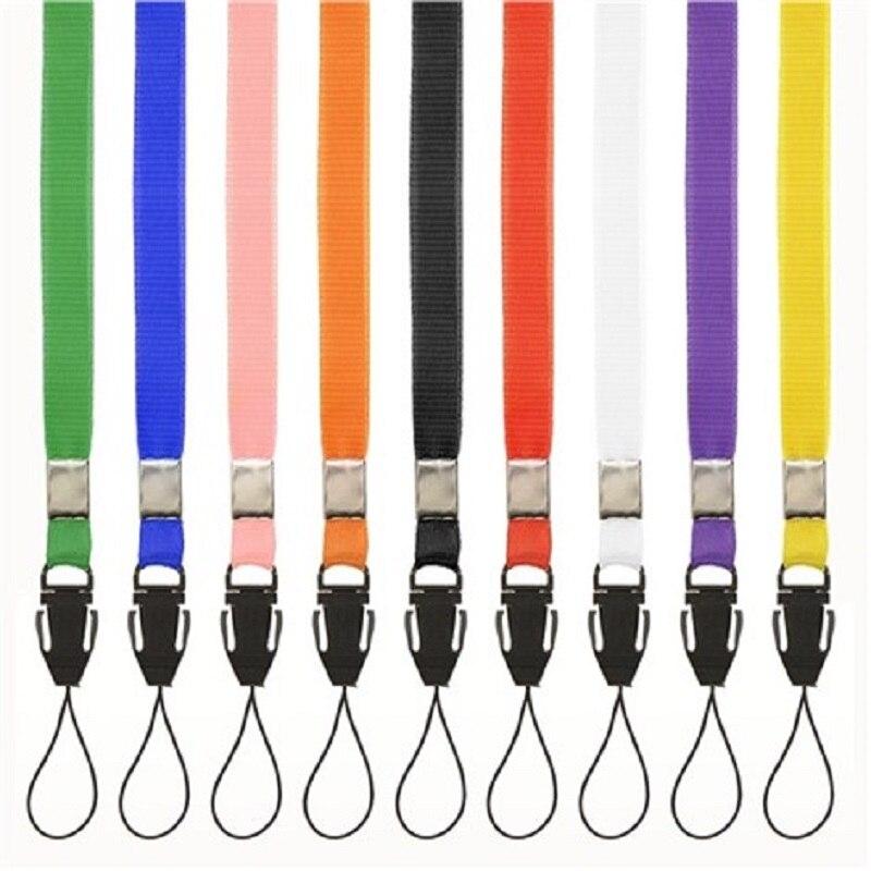 100 pcs Marca de Moda de Nova Simples Durável Alça de Pescoço Para ID Passe Cartão Crachá Chave Ginásio, USB Do Telefone móvel Titular