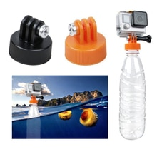 For Gopro Cap adapter Water float Bottle Cap Connector Diving Surfing Plastic Bottle Mount Adapter for Xiaomi Yi 2 4K Sjcam SJ6