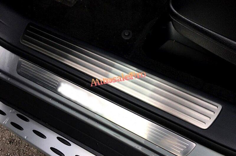 De acero alféizar de puerta interior desgaste placa de umbral recorte cubierta 4 Uds para Mercedes Benz GLE W166 2015-2016