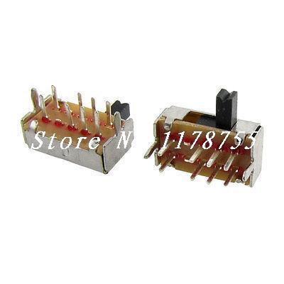 10 piezas DP3T 2P3T 3 posición Mini Horizontal interruptor deslizante 8 Pin PCB SK23D07-VG4