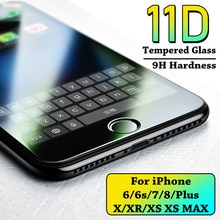 11D Protective Glass on the For iPhone 6 6s 7 8 Plus X XS glass For iPhone XR Xs Max Screen Protecto