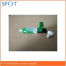 Conector rápido de fibra óptica SC/APC, preintegrado conector rápido de alta calidad, estándar de telecomunicación, conector de fibra