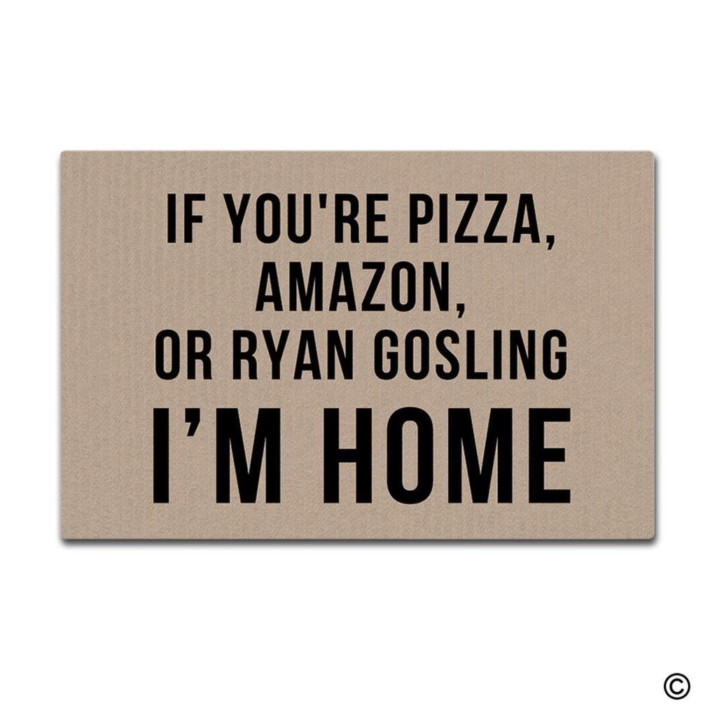 Felpudo de entrada, estera de suelo si eres Pizza, Amazon o Ryan goding, Felpudo decorativo para interiores y exteriores