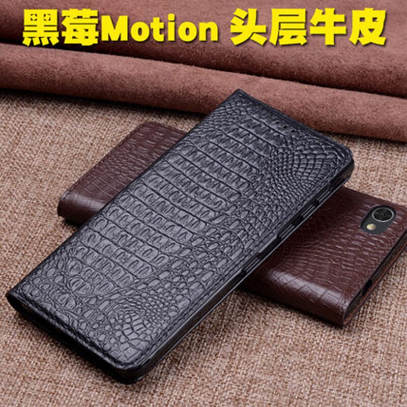 Funda de teléfono de cuero genuino de lujo para Blackberry Motion, funda de negocios hecha a mano con tapa, funda ultrafina para BB Motion