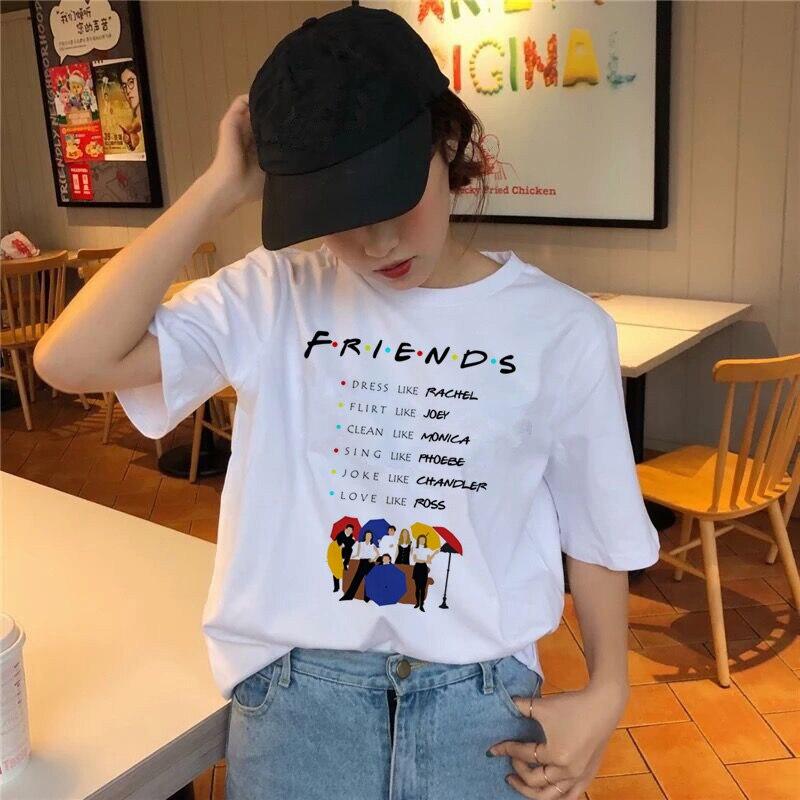 Friends tv show camiseta ropa 2019 Corea camiseta 90s mujeres camiseta femenina camiseta gráfica chica kawaii verano coreano