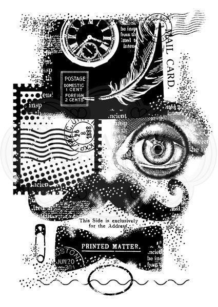 CLARO SELO olho fundo Recados DIY Cartão de álbum de selos de artesanato de papel rolo de borracha de silicone transparente 813