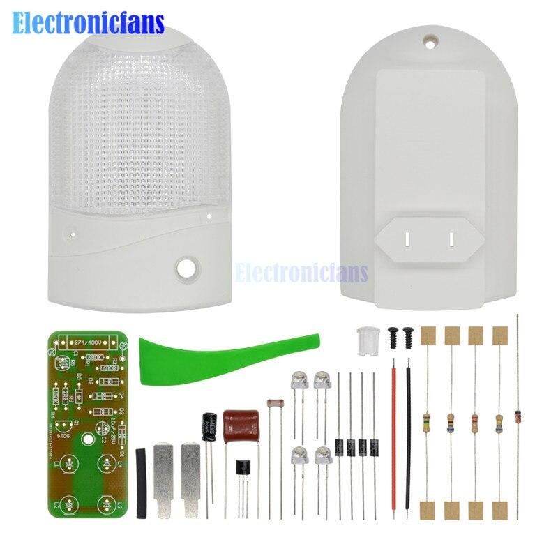 Kit diy led light control night-light sensor fotossensível CON-L nightlight eletrônico de produção suíte 1 w 220 v