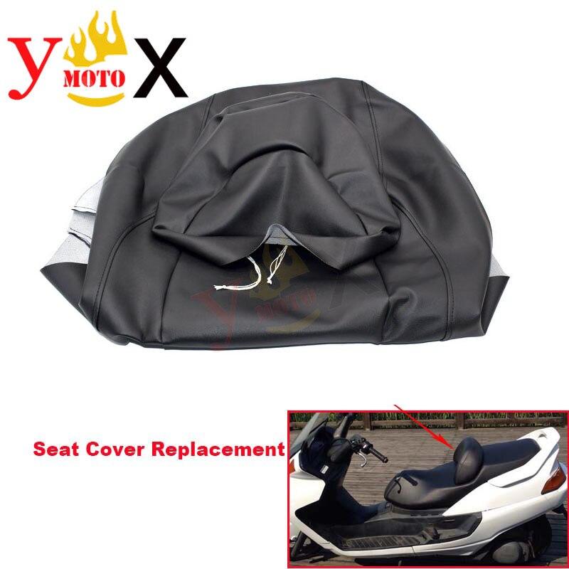 Funda gruesa de cuero PU para asiento de motocicleta Scooter con almohadilla frontal funda de cojín impermeable para YAMAHA Majesty YP250 YP 250 (modelo antiguo)