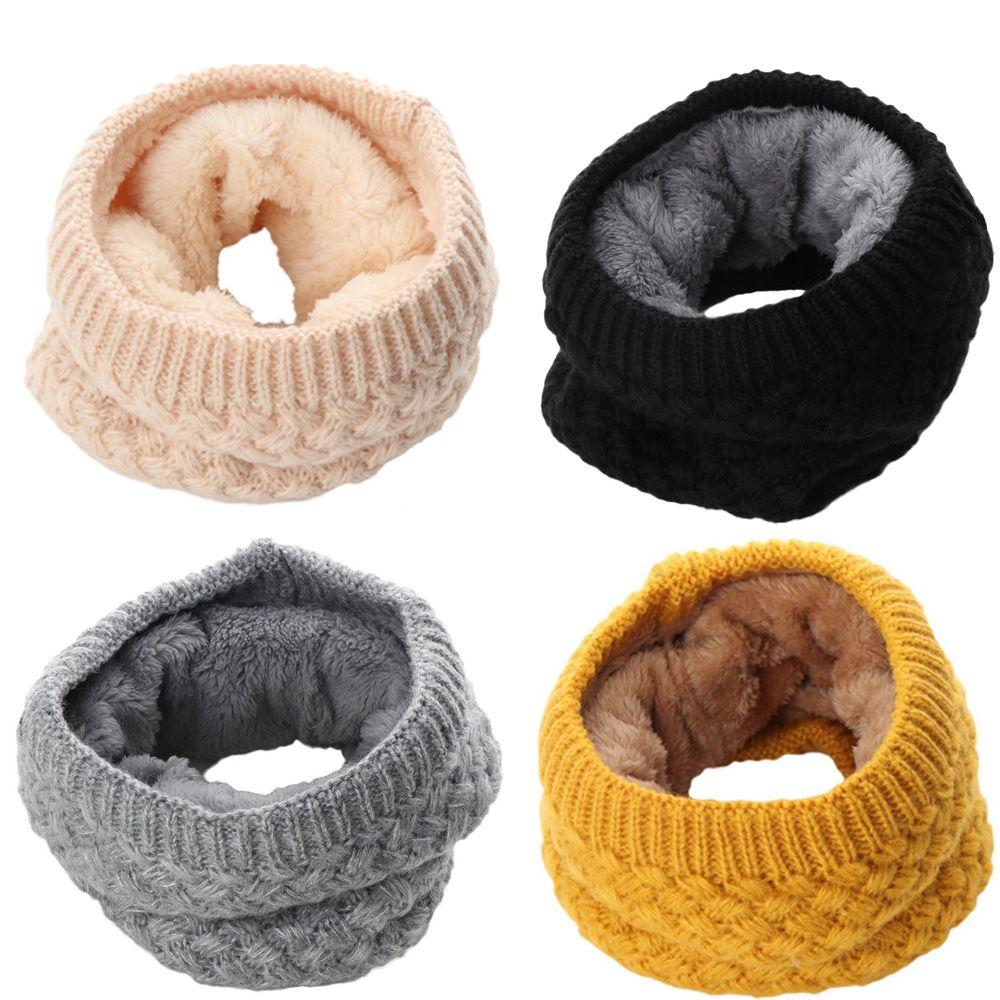 Теплый круглый шарф