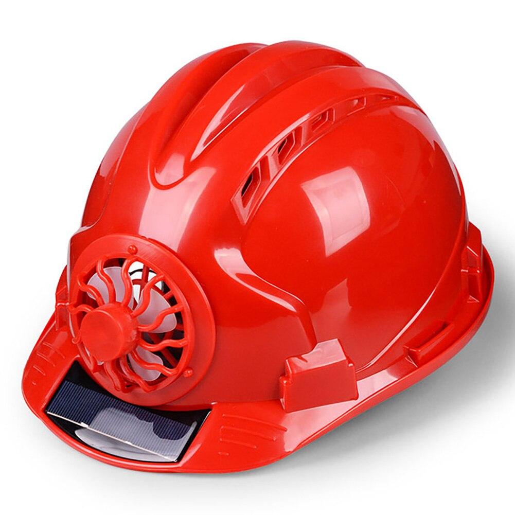 Casco ventilado de protección para la construcción con ventilador, protector Solar duro para el trabajo, para ciclismo y Seguridad al aire libre de seguridad