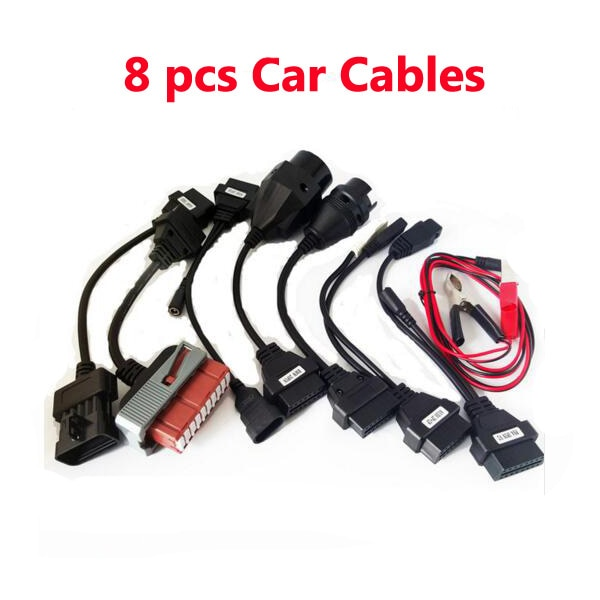 Set completo OBD2 8 Cables de coche para vd ds150e cdp herramienta de diagnóstico Cables de coche para delphis Multidiag Pro + OBD2 interfaz de diagnóstico
