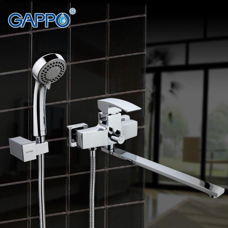 Grifo de fregadero de bañera GAPPO, mezclador de Grifo de ducha de baño para pared, grifos de bañera, lavabo, mezclador, baño, ducha, grifo, cascada GA2207