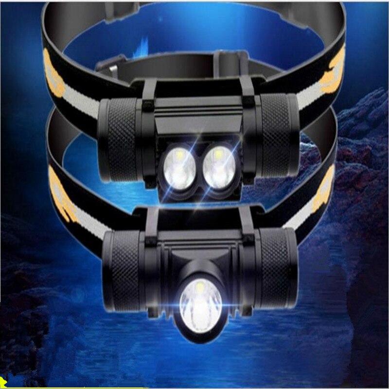 D10 Mini Kopf Lampe XML LED Scheinwerfer Weiß Licht Scheinwerfer USB Aufladbare 18650 Kopf Licht Für Jagd Angeln Camping