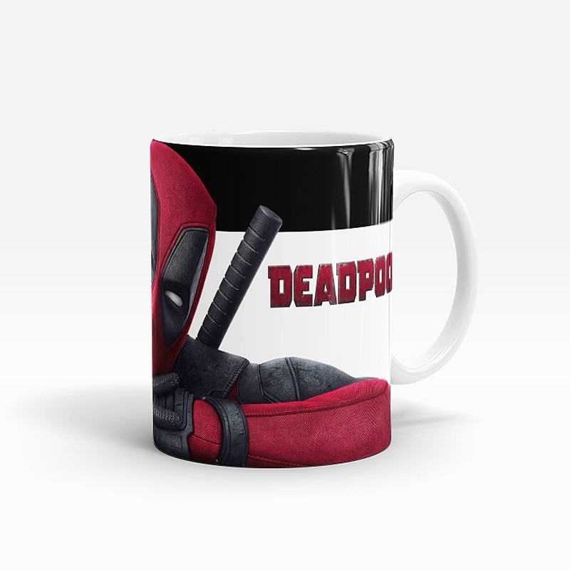Magic Mug Deadpool Custom Photo Heat Color Changing Morph Mug 300ML Coffee Cup Beer Milk Mug