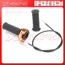Twist Throttle Accelerator Grip + Cable For 47cc 49cc Mini Dirt Bike Quad Pocket S13 Free shipping