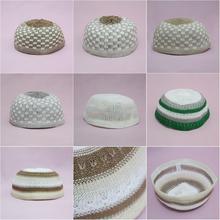 Skull Cap High Quality Knitting Islamic Kufi Topi Muslim Prayer Hat Turkish Made Namaz Egyptian Mens Head Wear
