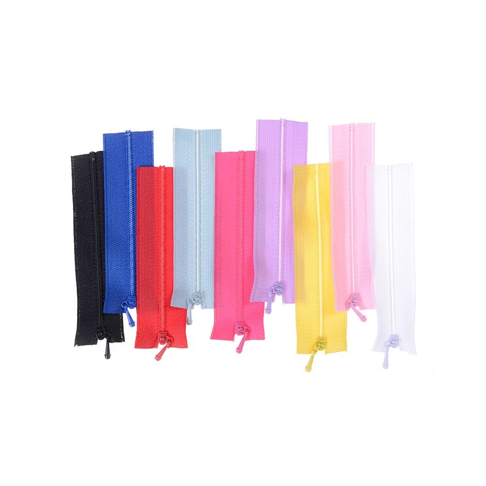 5pcs/lot Mini Zipper Doll Clothing Zipper DIY Handmade Sewing Scrapbooking Garment Applique Accessory