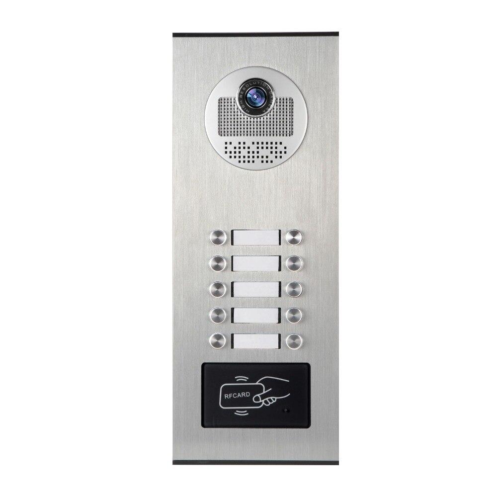 SmartYIBA, caja de Metal, a prueba de agua, Control de acceso RFID, timbre, cámara de intercomunicación para apartamento, Video, KIT de intercomunicador de puerta