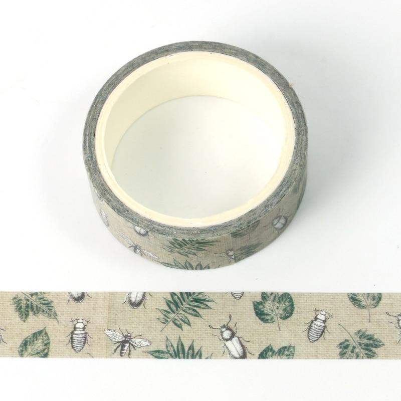 1X ретро природа насекомое мир лента для декорации washi DIY планировщик дневник в стиле Скрапбукинг маскирующая лента escolar 5 м лента