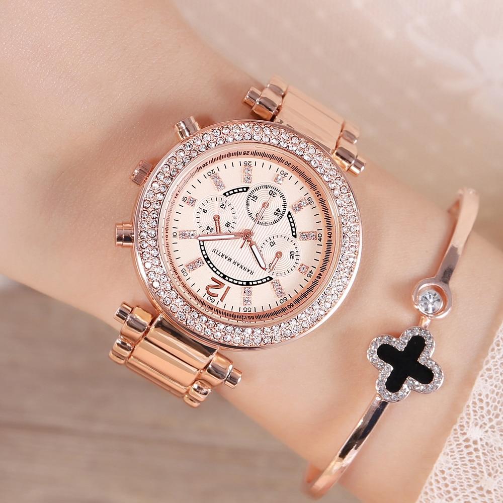 Women Rhinestones Watches Top Brand Luxury Business Fashion Female Diamond Casual Quartz Waterproof Wristwatch Relogio Feminino enlarge
