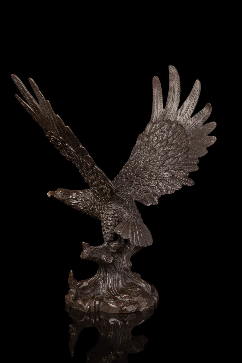 Arts Crafts Copper Chinese bronze sculpture falcon figurine hawk Statue for home decor wildlife sculpture fengshui business gift