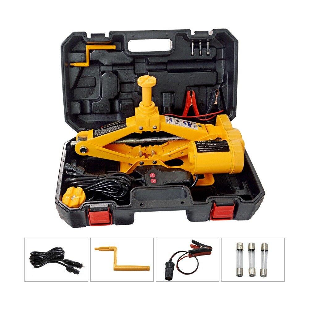 170-420mm Electric Jacks with LED Floor 12V Car Jack Set Tire Replacing Repair Tools Kit  Auto Lifting Repair Tools Kit