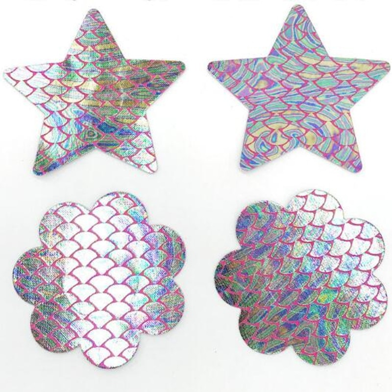 10pairs (20 Pcs) /lot New womens Breast Pasties Nipple Covers Mermaid pattern adhesive with a soft Sexy experience