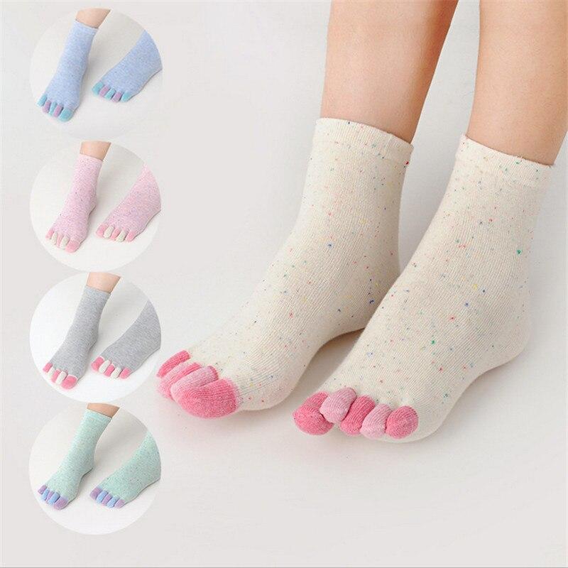 ¡Gran oferta! Las mujeres 5 dedo del pie calcetines 5 par/lote señora mujeres niñas cinco dedos entrenador dedo del pie calcetines de algodón de pilates Calcetines