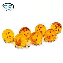 Comic Anime Dragon Ball Orange pvc 1-7 Stars Plastic Ball Pendant Keychains Goku Keyring  Key Chain bijouterie
