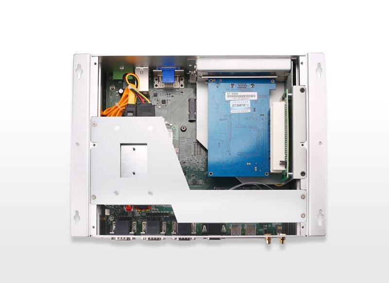 Industrial Computer, Fanless Box PC, 3855U Processor, 4GB DDR3L RAM, 64GB SSD, 2*RS232/484, 4*RS232, 4*USB3.0, 2*USB2.0, 2*PCI