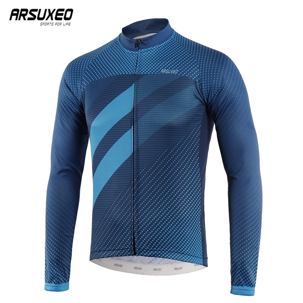 AliExpress - ARSUXEO 2020 Men's Cycling Jersey Spring Autumn Racing downhill jersey Tops Long Sleeve MTB Bike Bicycle Shirts Quick Dry z912
