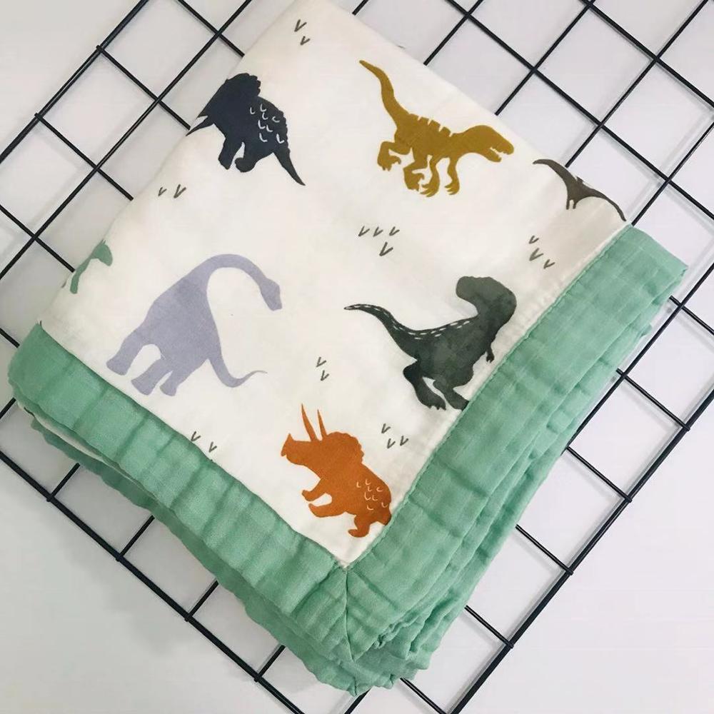 Nueva colcha de muselina de cuatro capas de bebé de bambú manta...
