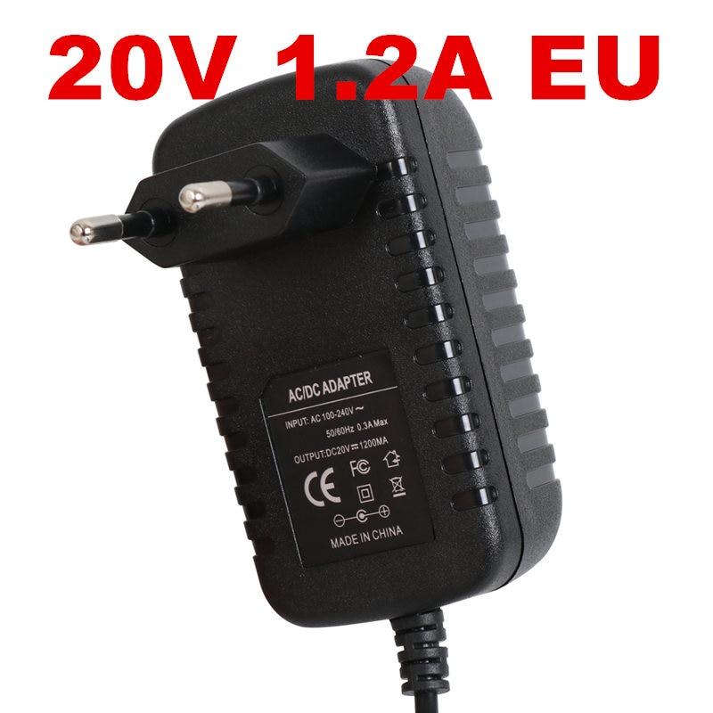 1 Uds nuevo 20v1.2a fuente de alimentación LED de encendido para lámpara fuente de alimentación 20 v fuente de alimentación 20 v 1.2A 1200mA adaptador de corriente EU UK AU US plug
