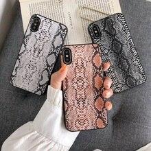 Vintage serpent peau coque de téléphone pour iphone XS Max Mat tpu souple étui pour iphone 11 11pro max X XR XS 6 6s 7 8 plus couverture arrière capa