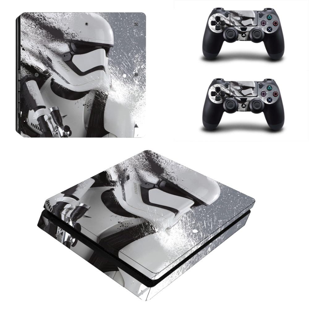 Vinly Star Wars чехол-наклейка для Sony PS4 Slim PlayStation 4 SLIM консоль и 2 контроллера
