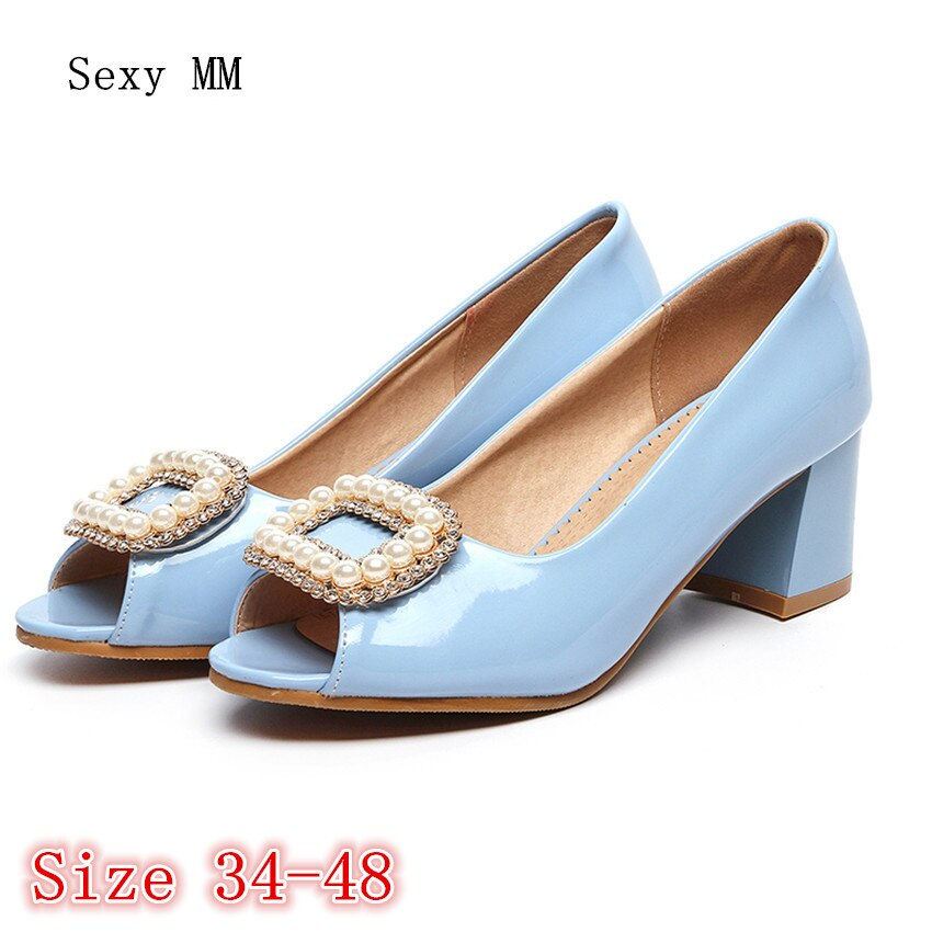 Summer Pumps Women Peep Toe High Heels Party Wedding Shoes Woman High Heel Shoes Plus Size 34 - 40 41 42 43 44 45 46 47 48