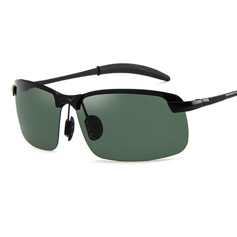 2020 vintage óculos de sol homens polarizados retro anti brilho óculos de sol para condução metade do quadro eyewear