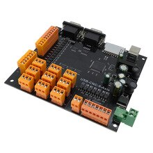 Placa de controlador USB CNC controlador de Motor paso a paso de 9 ejes Placa de ruptura con interfaz MPG para máquina de grabado 100KHz