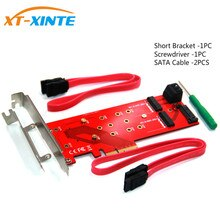 3 Interfaces M.2 NVMe SSD NGFF to PCIE X16 Riser Card M Key B KEY Interface Card Support PCI Express 3.0 4X M2 SATA