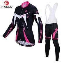 X-tiger Anti-UV printemps femmes cyclisme vêtements 100% Polyester vélo cyclisme vêtements cyclisme vélo vêtements cyclisme maillot ensemble