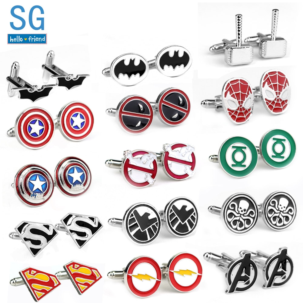 Ghostbusters Cufflinks Superhero Tie Clips For Men Party Shirt Jewelry