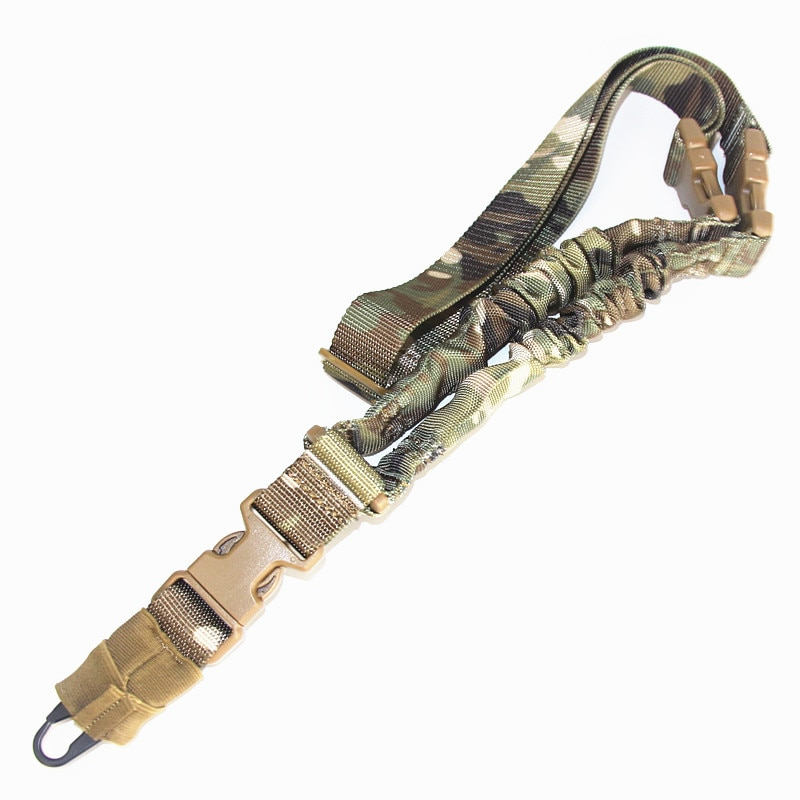 AliExpress - Tactical Single One Two Point Rifle Sling Hunting Military Bungee M4 AR15 AK Rifle Gun Airsoft Sling Strap Hunting Accessories