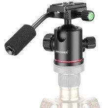 Neewer Heavy Duty Camera głowica kulowa statywu z uchwytem i szybką płytką do butów 1/4 cala, głowica panoramiczna 360 stopni do statywu, Monopod