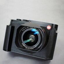 Milicase Handarbeit Aus Echtem Leder Kamera fall Halb Tasche Körper Für Leica Q Typ 116