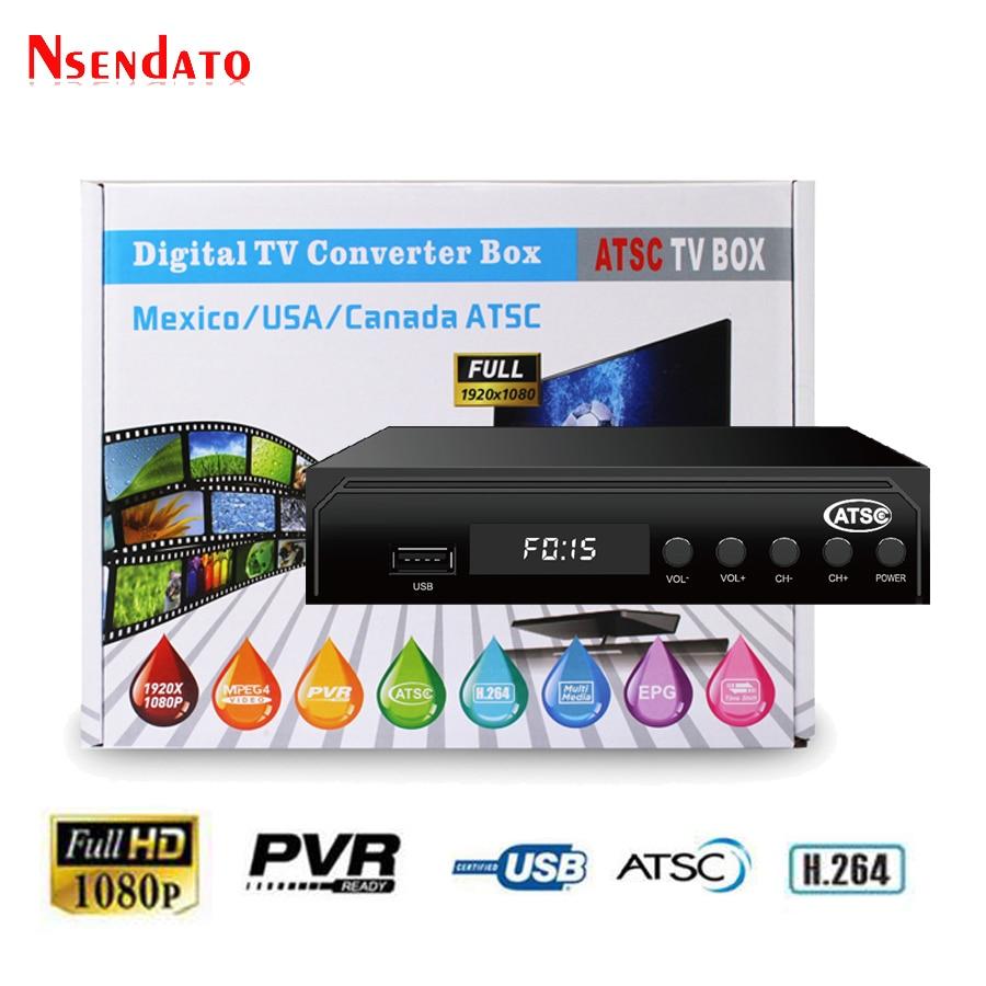 ATSC TV BOX Terrestrial 1080P HDMI MPEG4 Youtube Digital Receptor satellite Decoder TV Receiver Converter for USA/Mexico/Canada