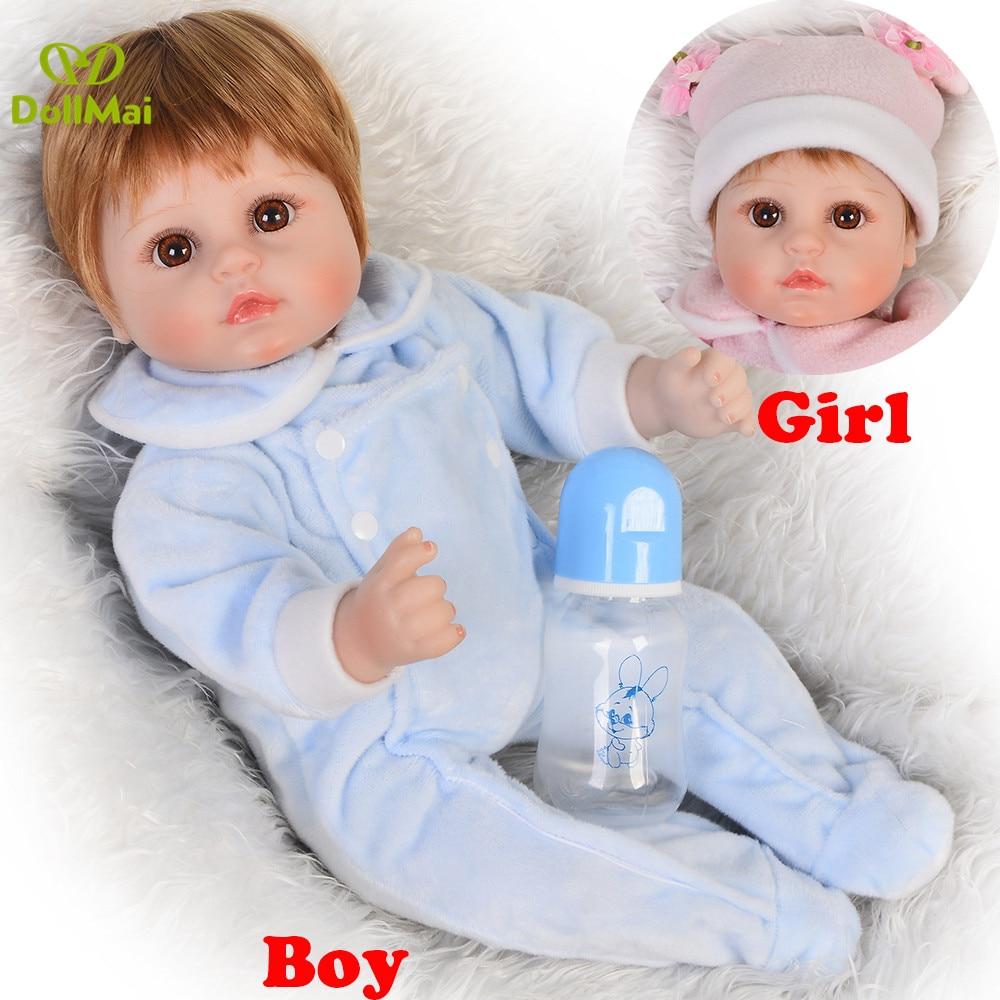 18 inch 43 Reborn Dolls Babies girl boy silicone dolls  real alive Baby newborn Doll bebes reborn menina de silicone menina